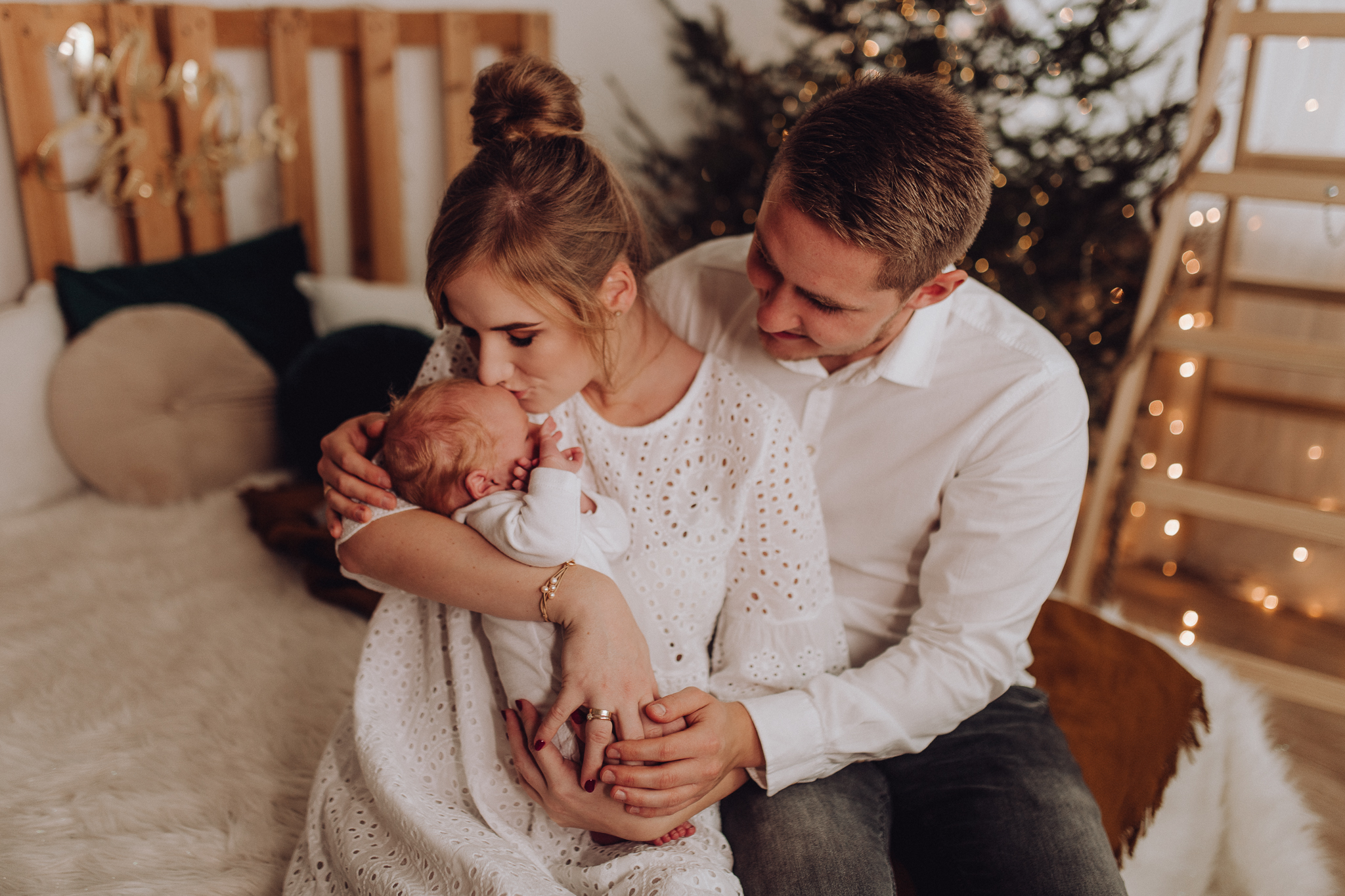 Sesja noworodkowa rodzinna Tymon Monika i Mateusz NET-80